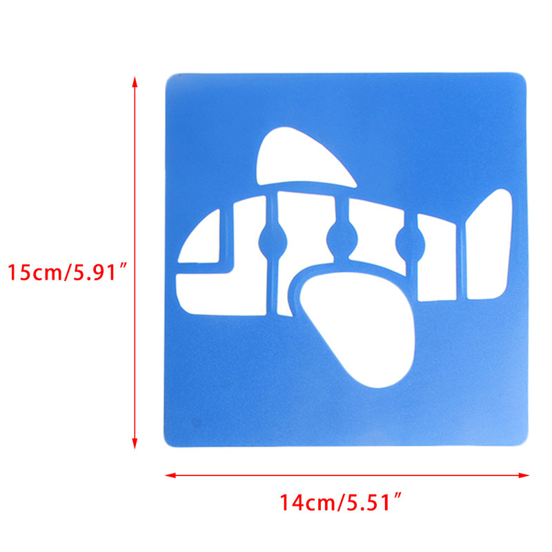 New-6x-Children-Transport-Shaped-Plastic-Painting-Drawing-Template-Stencil-Kids-Toy-5