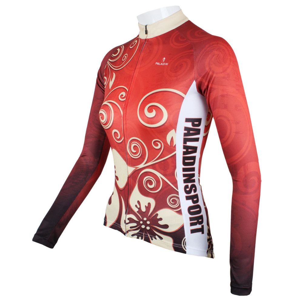 Sacred Flower Womens Bicycle Long sleeve jersey Cycling Sportswear winter  Clothing Cycling jersey Top Cycling clothing-in Cycling Jerseys from Sports  ... 20bf15b5a