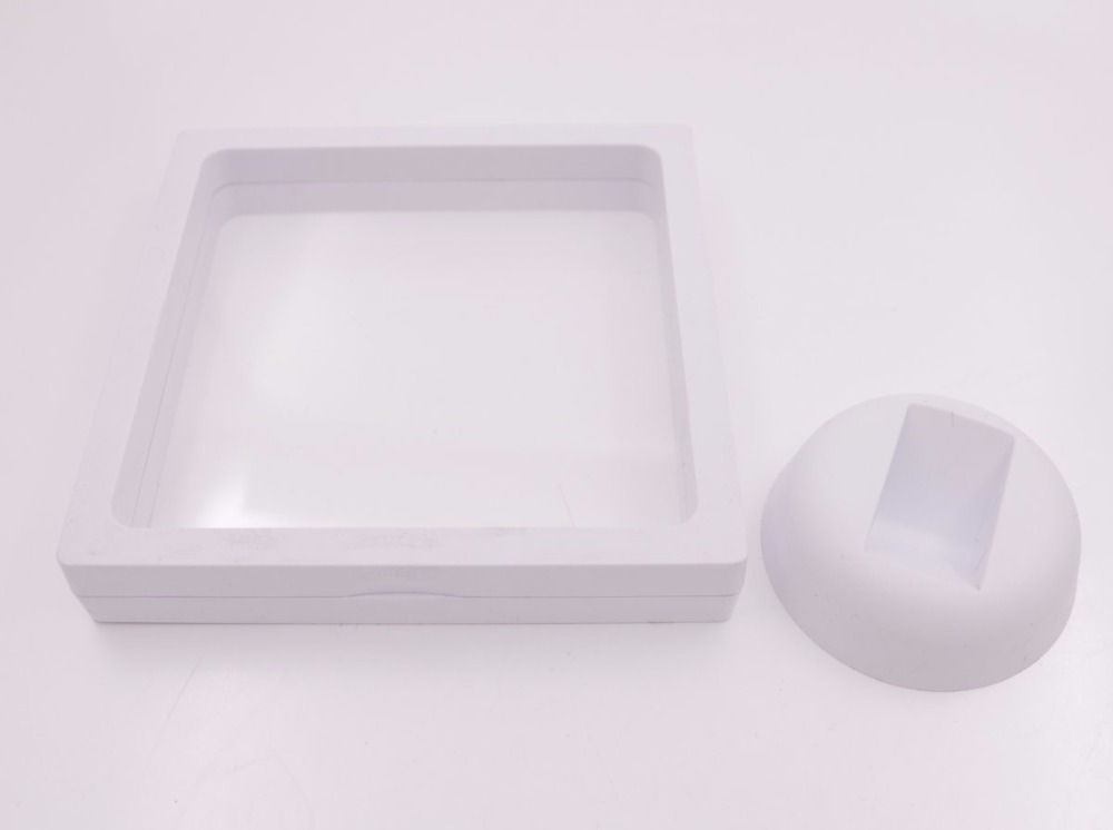 Купить с кэшбэком Transparent Film Suspension Frame Watch Jewelry Display Box White Black Select 70mm-110mm Choose