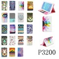 Fashion flower tree abstract painting Wallet Card PU Leather Stand Case Cover For Samsung Galaxy Tab 3 7.0 P3200 P3210 t211 T210