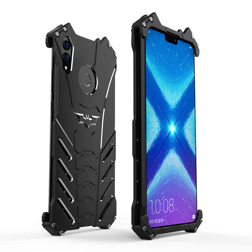 R-JUST For Huawei Honor 8X Cover Case Luxury Slim Hard Metal Aluminum Alloy  Armor Protective Phone Case for Honor 8X Back Cover