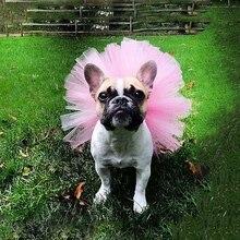 Пышная кружевная юбка для домашних животных в европейском и американском стиле; сетчатая юбка-пачка для отдыха; платье для костюмированной вечеринки; одежда для домашних животных; модная красивая юбка