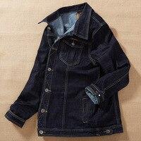 Black Mens Denim Jacket Outerwear 2018 Spring Plus size M 4XL 5XL 6XL 7XL 8XL MAX Chest 140CM