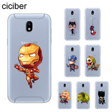 Ciciber Marvel DC Iron Man โทรศัพท์กรณีสำหรับ Samsung Galaxy J 8 7 6 5 4 3 2 Pro Core plus Prime mini 2016 2017 2018 ฝาครอบ Soft TPU(China)