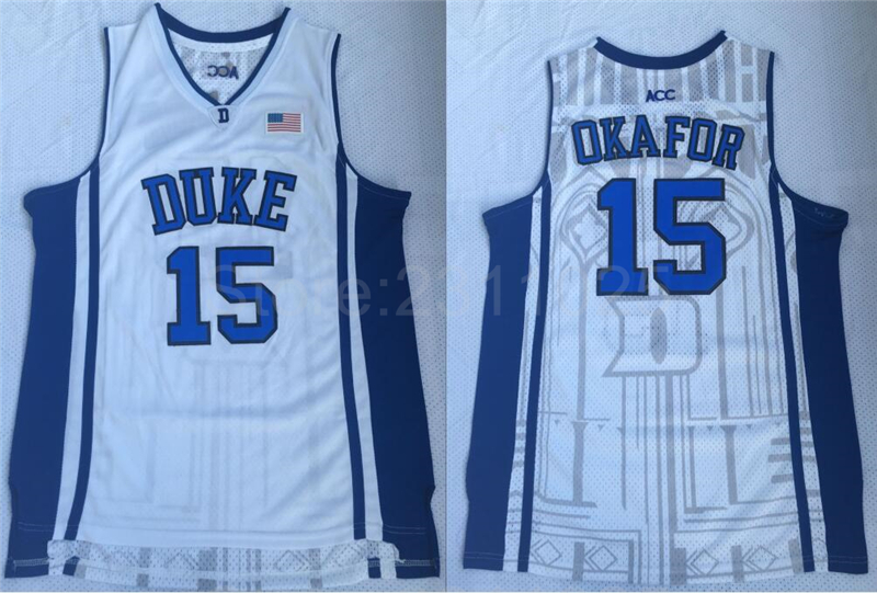 c609e37d4d94 ... coa 37559 7cdba  promo code for aliexpress buy ediwallen men basketball  15 jahlil okafor college jerseys duke blue devils