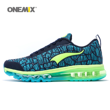 ONEMIX men black white color sports air cushion shoes running sneakers fitness for male walking shoesmen bigsize 36-46.TN