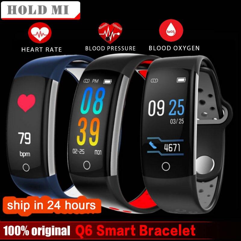 Hold Mi Q6 Fitness Tracker Smart Bracelet HR Fitness Bracelet Sleep Tracker Waterproof IP68 Activity Tracker for Android IOS