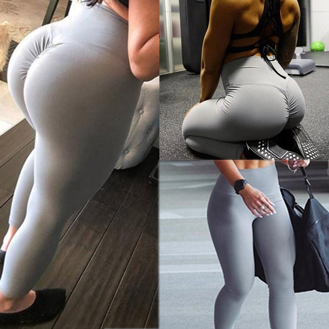 42e5c84739 Gym leggings Sport Women Fitness Yoga pants High Waist Workout Leggins  Scrunch Butt Lift sports wear