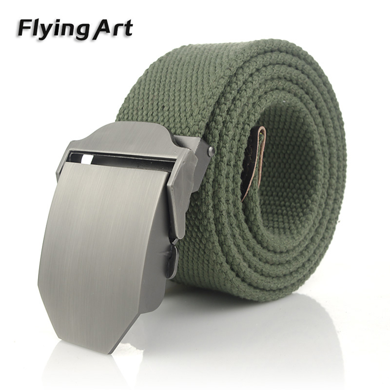 Neuankömmling Real Striped Adult Fashion Men Kostenlos Tiger Ledergürtel Ultra Long 140 Canvas Belt Man Automatische Schnalle Cowboy Gürtel