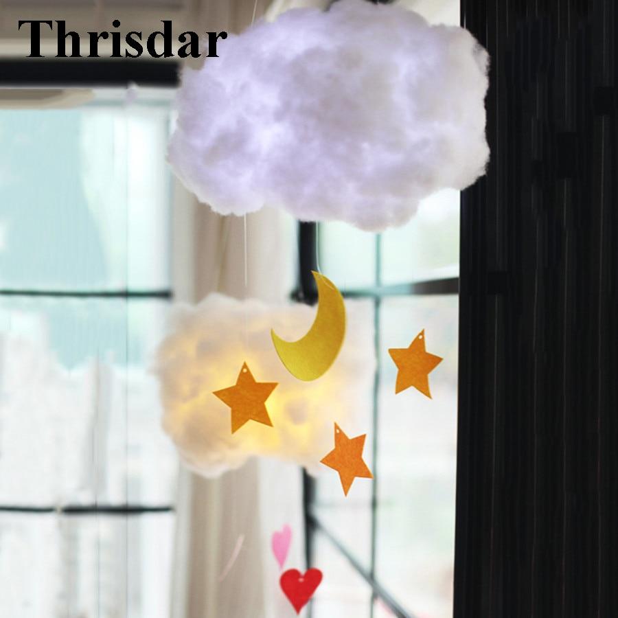 Thrisdar DIY Lovely Cloud LED Night Light Bedroom Bedsides Baby Sleeping Light Children Baby Toy's Light Christmas Birthday Gift