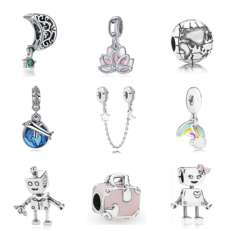 New Original Free Shipping Sliver Plated Bead Holiday Travel Christmas Charm Fit Pandora Bracelet Necklace DIY Women Jewelry(China)