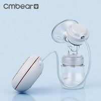 CMbear Electric Breast Pump With LED Display Adjustable Suction BPA Free Milk Bottle USB Massage Bresat Pump Baby Breast Feeding