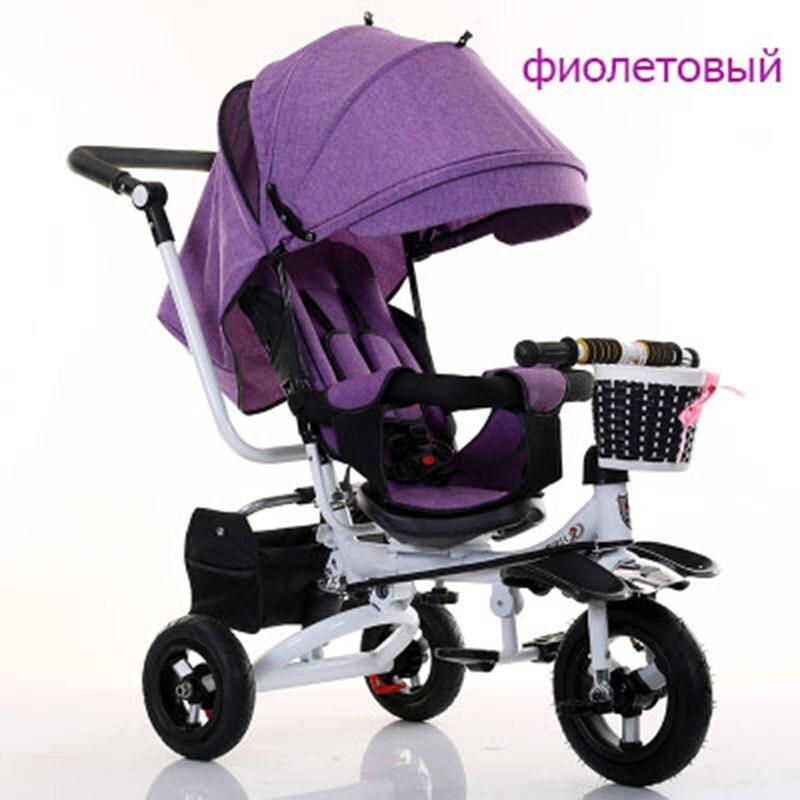 Bébé chariot vélo pour bébé tricycle enfants rotation siège avec main push vélo pliant vélo pour bébé enfant 1-3-5 vélo