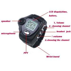 Image 3 - 1 Pair Wrist Watch Digital Wrist Watch Freetalker RD 820 Walkie Talkie Ham Radio Interphone 2 Way Radio With VOX Operation