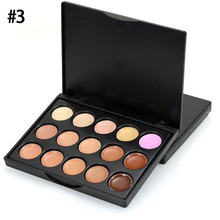 popfeel 10cmx8cmx1cm Mini 15 Colors Face Concealer Palette Camouflage Cream Contour maquillaje profesional corretivo maquiagem