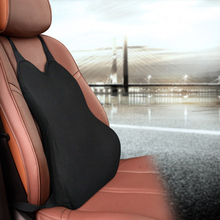 Polyester Car Seat Back Rest Support Breathable Pillow Cushion