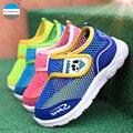 2016 Verão 2-7 anos de idade as crianças sapatos casuais bebê meninos e meninas de esportes sapatos da moda respirável crianças sneakers marca