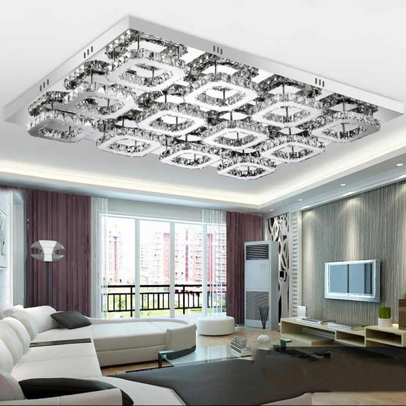 Postmodern Karat Cermin Lampu LED Chandelier Kristal Chandelier Ruang Lampu LED Chandelier Lampu Perlengkapan