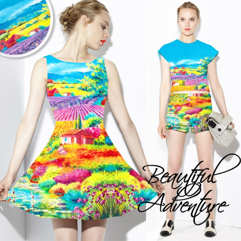 120 cm lot digital printed elastic satin silk fabric for sewing 19 momme silk fabrics