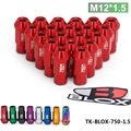 TANSKY -Blox Racing Forged 7075 Aluminum Wheel Lug Nuts P 1.5, L: 50mm 20Pcs TK-BLOX-750-1.5