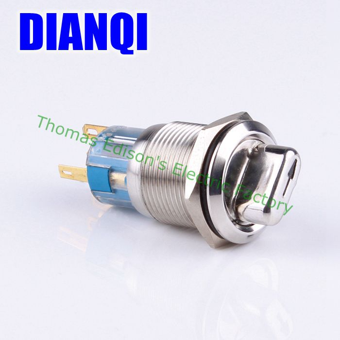 19mm latching 2 position push button stainless steel selector rotary Button Switch 1NO 1NC 19XN/B,2D.KB 660v ui 10a ith 8 terminals rotary cam universal changeover combination switch