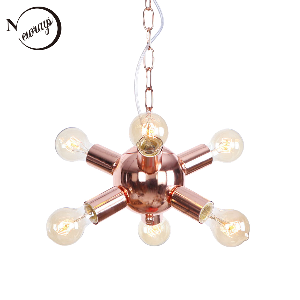 Modern iron plated Multi-branche rose gold pendant lamp E27 220V LED hanging light fixture for restaurant bedroom foyer cafe bar dom men watch top luxury men quartz analog clock leather steel strap watches hours complete calendar relogios masculino m 11 page 9