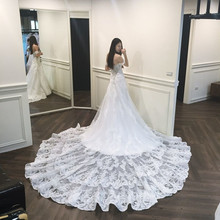 Luxury Applique Bridal Gowns Mermaid Lace Wedding Dresses Sweetheart Off The Shoulder vintage wedding dress 2019