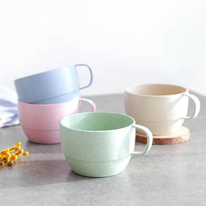 1 PC Office Coffee Cup Eco-friendly Mouthwash Cups Wheat Straw kitchen Accessories  Milk Tea Cup