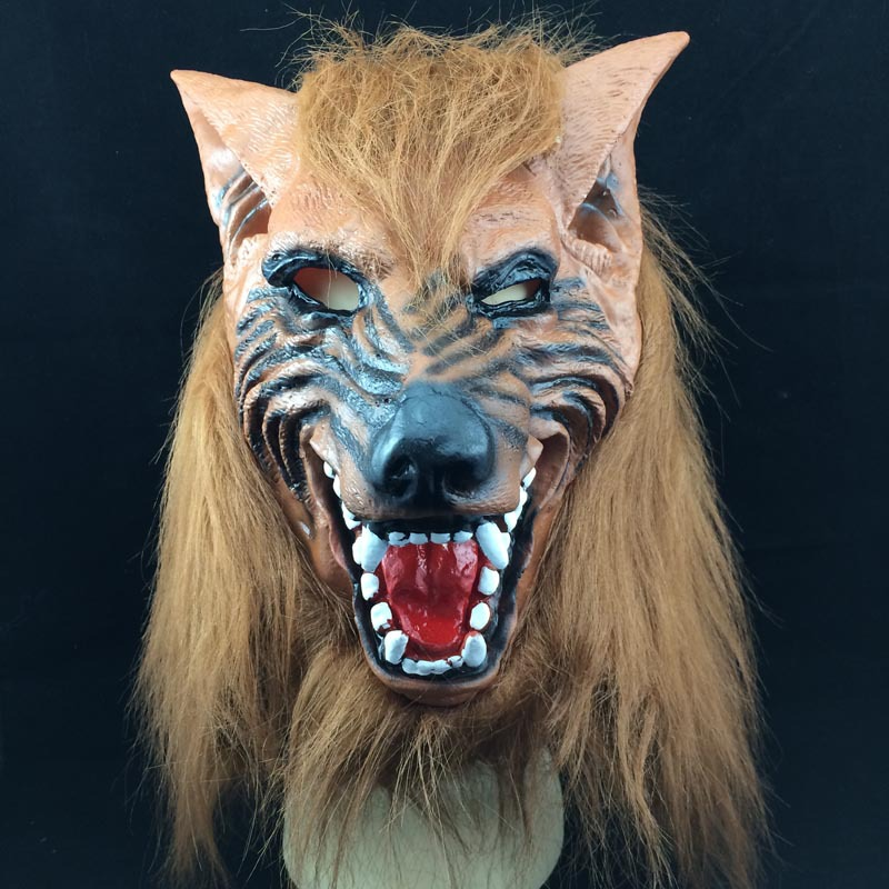 novelty creepy wolf halloween head costume theater prop party mask offering discounts silicone mask h - Discount Halloween Props