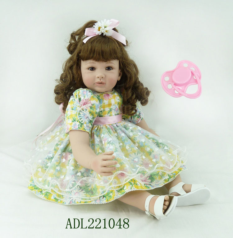 60cm Soft Silicone Vinyl Reborn Baby Doll toys lifelike soft doll reborn babies lovely princess toys for childs kids new style silicone vinyl reborn baby doll toys lifelike soft doll reborn babies pink princess toys for childs kids new design