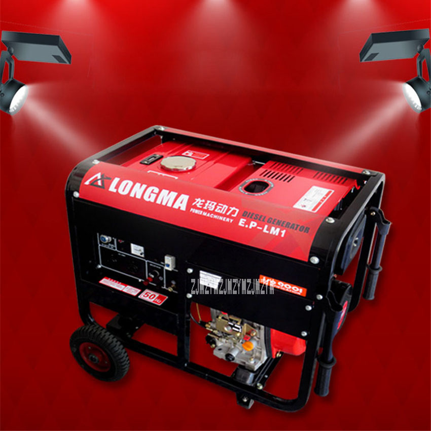 New 8KW Hand Push Type Electric Starting Diesel GeneratorSingle-phase 220V/ Three-phase 380v Household Small Diesel Generator fast shipping 5 pins 10kw ats three phase 220 380v diesel generator control automatic starting system auto start stop function