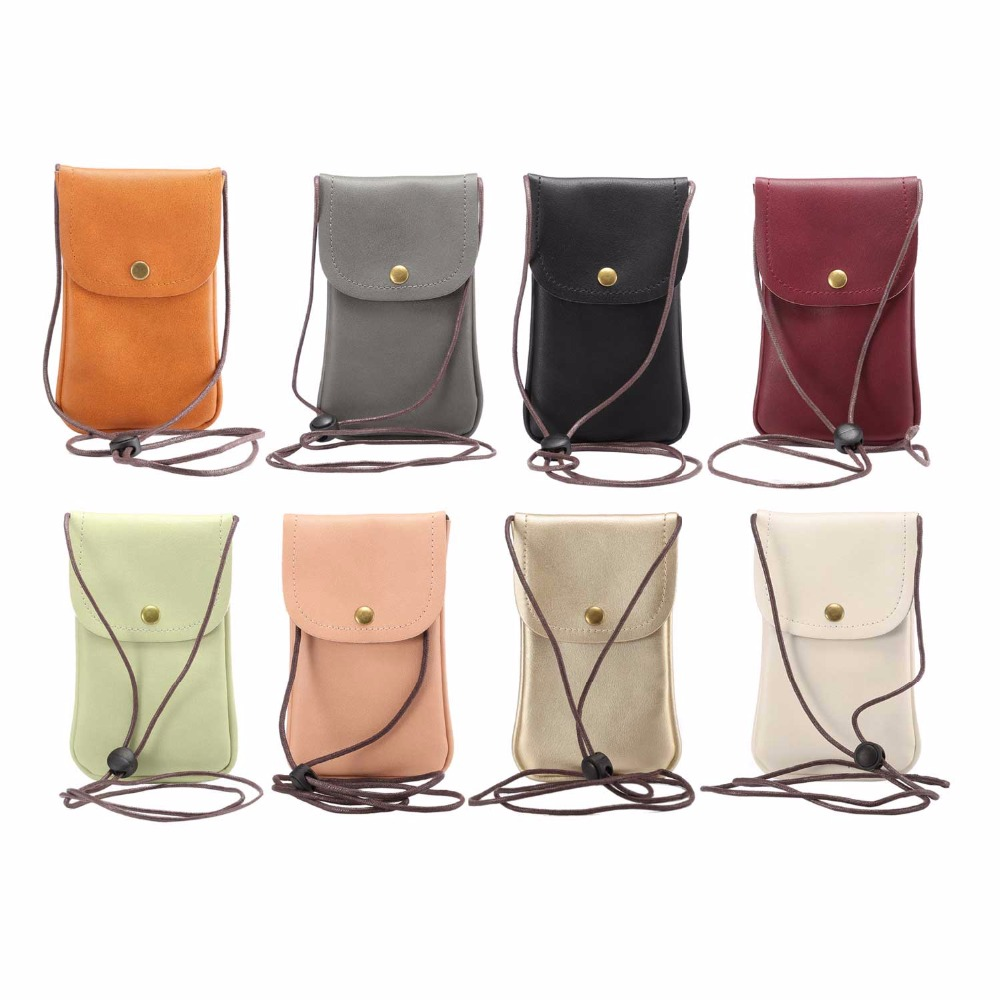 KSQ Universal Leather Cell Phone Bag Shoulder Pocket