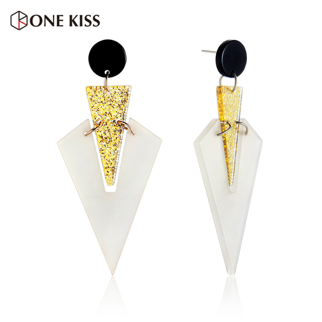 Fashion Geometric Statement Acrylic Drop Earrings For Women Wedding Dangle Earring Bijoux Resin Elegant Design Jewelry