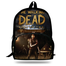 16-inch Mochila The Walking Dead Game Duck Backpack Teenagers Children School Lily Bags For Boys Casual Bag kids Girls primary
