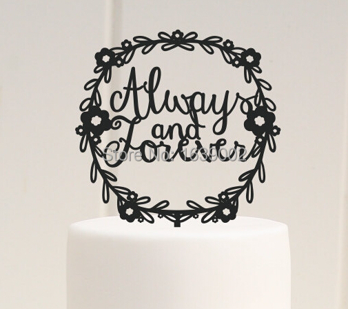 Always And Forever Wedding Cake Topper Acrylic Wholesale Free Shipping