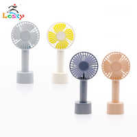 Handheld small electric fan mini rechargeable portable student office desktop hand holding usb 3 speed fan