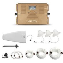 Atnj dual band repeater 1800/2100 mhz 2 г 3 г 4 г телефон усилитель сигнала с жк-экран включают 3 комнатная антенна