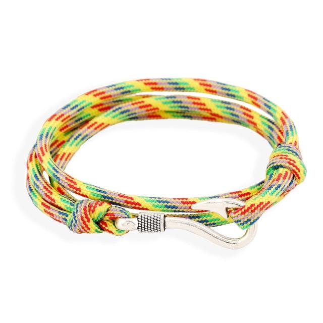 2018 Hot Sale Sterling Fish Hook Zinc New Fashion Bracelets For Mens Jewellery Tom Hope Anchor Friendship Wrap