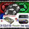 10M RGB SMD 5050 Waterproof IP65 Led Strip Light 60Leds Meter 2 5M Black Wireless RF