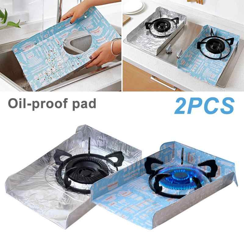 2Pcs/Set Kitchen Gas Stove Oil-Proof Pad Reusable Burner Protector For Gas Stove Tops Clean Mat Pad Kitchen Accessories