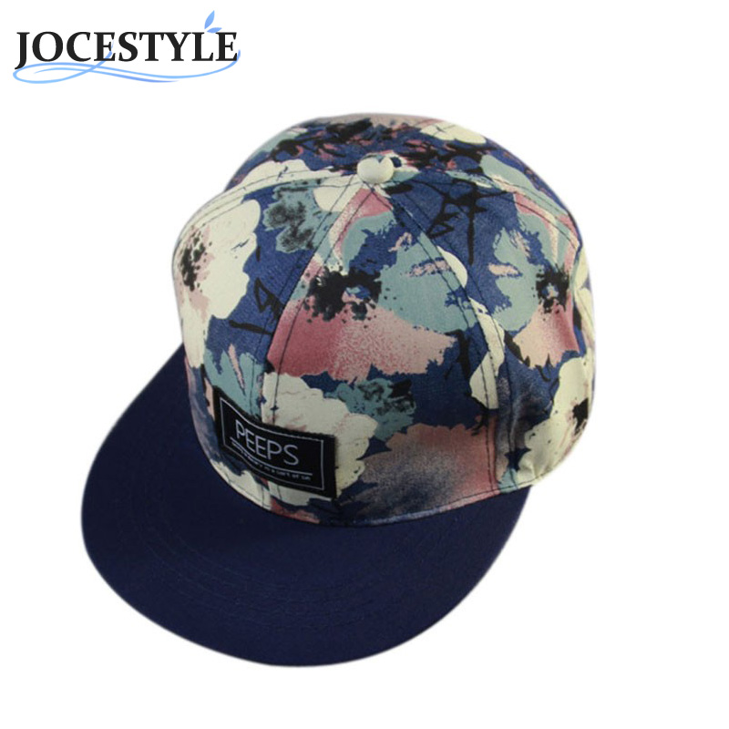 Unisex Casual Caps Men Women Outdoor Sunhats Snapback Hat Adjustable Baseball Cap Cool Floral Printed Cool Hip Hop Hats 2017 Hot  2017 new hot brand cotton men hat baseball cap casual outdoor sports unisex snapback hats cap for men women