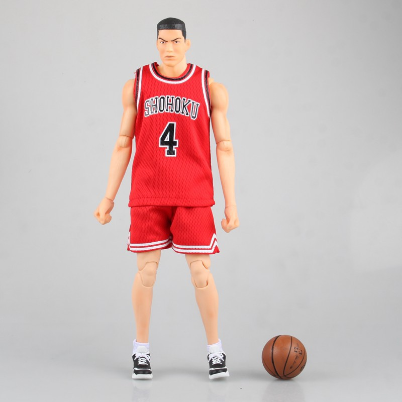 34CM Japanese classic anime figure SLAM DUNK Akagi Takenori No.4 action figure collectible model toys for boys huong anime slam dunk 24cm number 11 rukawa kaede pvc action figure collectible toy model brinquedos christmas gift