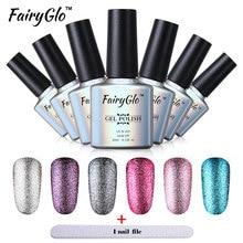 FairyGlo Platinum Gel Polish Tool Set 1pcs Nail Gel +1 pcs Buffer File Nail Tool Kit Vernis Semi Permanent Bling Color Gel Set