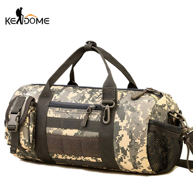 8d66af75e Outdoor Sports Army Gym Bags for Women Men Fitness Camouflage Tactical  Military Molle Bags Shoulder Bag Travel Duffle XA266WD