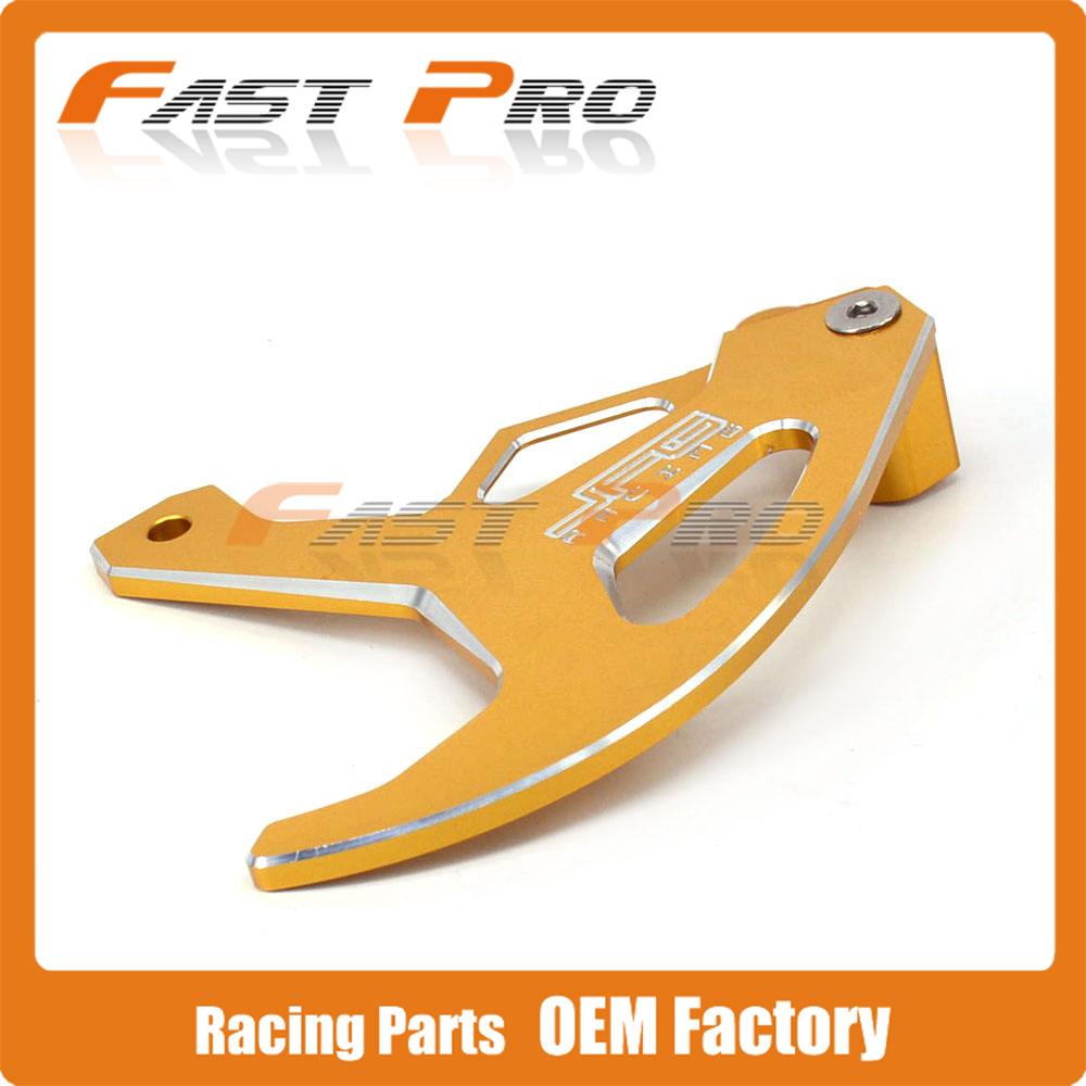 CNC Gold Billet Rear Brake Disc Guard Protection for SUZUKI DRZ400S 00-15 DRZ400 DRZ400E 00-04 RM125 RM250 96-00 Dirt Bike