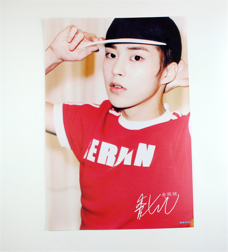8 42x29cm Exo Kim Minseok Xiumin Poster Wall Decoration Korean