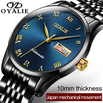 Luxury Automatic Mechanical Wristwatches Stainless Steel Men's Watch Waterproof Auto Date Ultra thin Watches relogio masculino