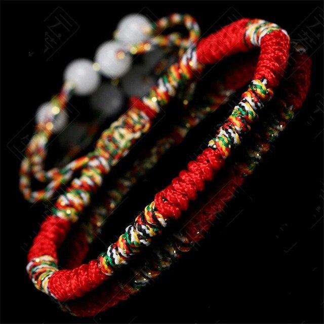 Bracelet Tressé Avec Noeud Pour Bouddhiste Tibétain