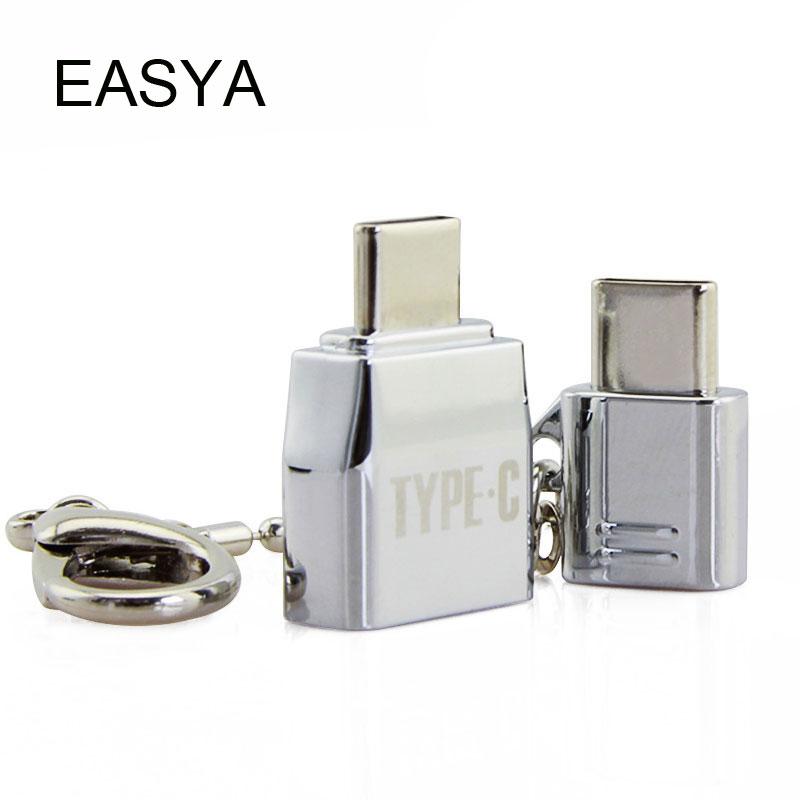 EASYA USB 3.1 Type-C Adaptateur USB-C Mâle à USB2.0/Mrico USB Femelle OTG Converter pour Macbook Pro Type-c interface