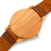 Bamboo Wooden Wristwatches Street Style